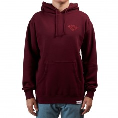 Diamond Supply Co. Brilliant Heavyweights Hoodie - Burgundy