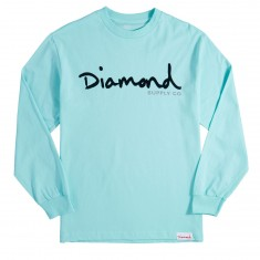 Diamond Supply Co. OG Script SP18 Long Sleeve T-Shirt - Diamond Blue