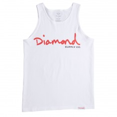 Diamond Supply Co. OG Script SP18 Tank Top - White