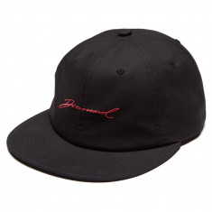 Diamond Supply Co. Paradise Script Unstructured 6 Panel Strapback Hat - Black