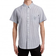 The Quiet Life Seersucker Short Sleeve Shirt - Black