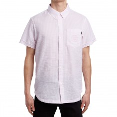The Quiet Life Seersucker Short Sleeve Shirt - Pink
