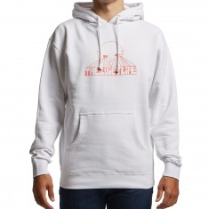 Quiet Life Alien Eyes Hoodie - White