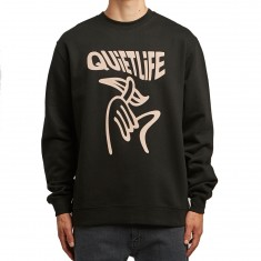 Quiet Life Shhh Wavey Sweatshirt - Black