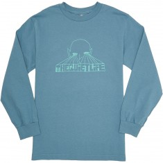 Quiet Life Alien Eyes Longsleeve T-Shirt - Slate Blue