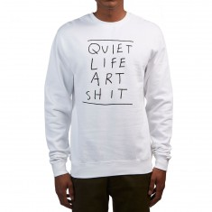 Quiet Life Art Shit Crewneck Sweatshirt - White