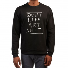 Quiet Life Art Shit Crewneck Sweatshirt - Black