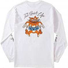 Quiet Life Shakey Cat Longsleeve T-Shirt - White