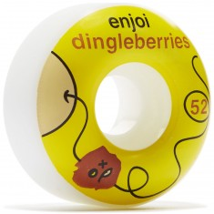 Enjoi Dingleberries Skateboard Wheels - Yellow/White - 52mm