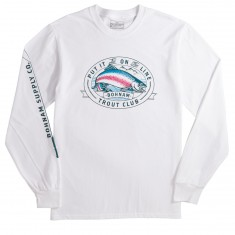 Bohnam Trout Club Long Sleeve T-Shirt - White