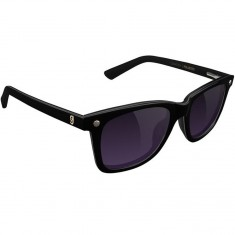 Glassy Mikemo Premium Polarized Sunglasses - Black/Purple Smoke