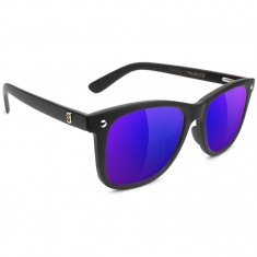 Glassy Mikemo Premium Polarized Sunglasses - Matte Black/Blue Mirror