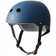 Triple Eight Certified Sweatsaver Helmet - Navy Rubber