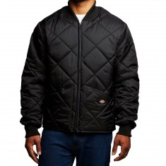 Dickies Diamond Quilted Nylon Jacket - Black