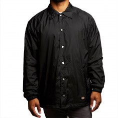 Dickies Snap Front Nylon Jacket - Black