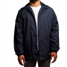 Dickies Snap Front Nylon Jacket - Dark Navy