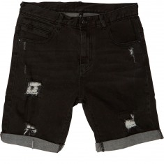Globe Select Ripped Demin Walk Shorts - Black Ripped