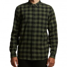 Globe Barkley Vintage Plaid Longsleeve Shirt - Army