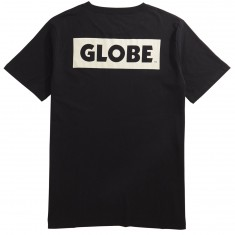 Globe Sticker T-Shirt - Black