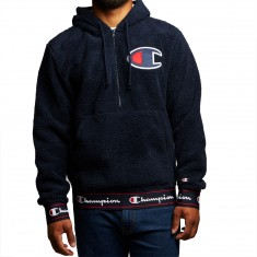 Champion Sherpa Pullover Hoodie - Navy
