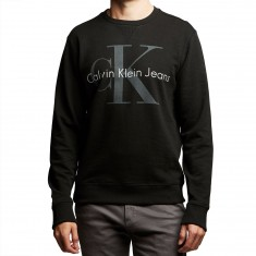 Calvin Klein Surplus Khaki Washed Reissue Sweatshirt - Black