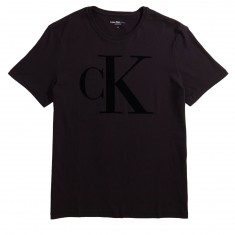 Calvin Klein Sport Plush Flocked Logo Crew T-Shirt - Black