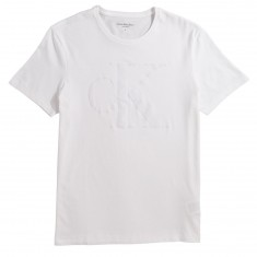 Calvin Klein Sport Plush Flocked Logo Crew T-Shirt - White