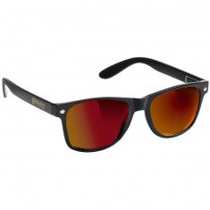 Glassy Leonard Sunglasses - Black/Red Mirror