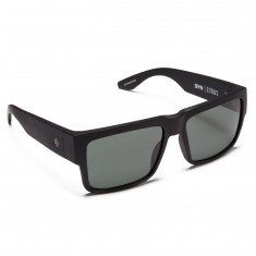Spy Cyrus Sunglasses - Matte Black/Happy Gray Green