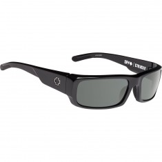 Spy Caliber Sunglasses - Black/Happy Gray Green