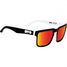 Spy Helm Sunglasses - Whitewall/Happy Gray Green/Red Spectra
