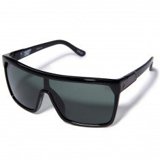 Spy Flynn Sunglasses - Soft Matte Black/Tort Fade/Happy Gray Green