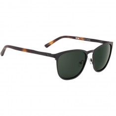 Spy Cliffside Sunglasses - Matte Black/Matte Honey Tort/Happy Gray Green
