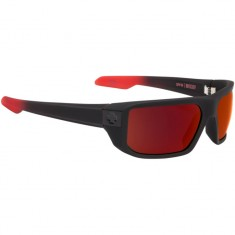 Spy MC Coy Sunglasses - Soft Matte Black/Red Fade/Happy Gray Green/Red Flash