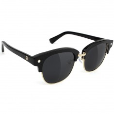 Glassy Carrie Polarized High Roller Sunglasses - Black/Gold