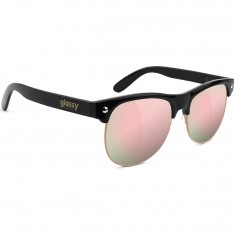Glassy Shredder Sunglasses - Black/Pink Mirror