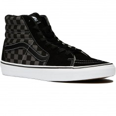 Vans Sk8-Hi Shoes - Checkerboard Black/Pewter