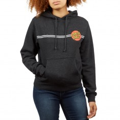 Santa Cruz Womens Classic Dot Hoodie - Charcoal Heather