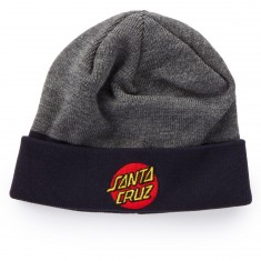 Santa Cruz Classic Dot Beanie - Charcoal Heather/Navy