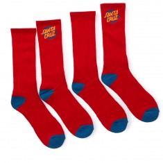 Santa Cruz Cruz Socks - Red - 2 Pack