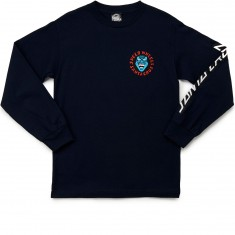 Santa Cruz Screaming Hand Long Sleeve T-Shirt - Navy