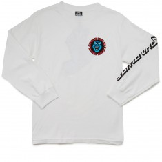 Santa Cruz Screaming Hand Long Sleeve T-Shirt - White