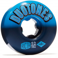 Ricta Duo Tones 98a Skateboard Wheels - Blue/Black - 52mm