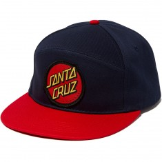 Santa Cruz Dot Adjustable Snapback Hat - Navy/Red