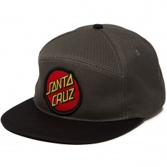 Santa Cruz Dot Adjustable Snapback Hat - Charcoal/Black