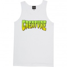 Creature Logo Fit Tank Top - White