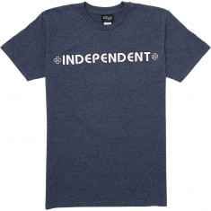 Independent Bar/Cross T-Shirt - Navy Heather