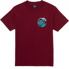 Santa Cruz Wave Dot T-Shirt - Burgundy