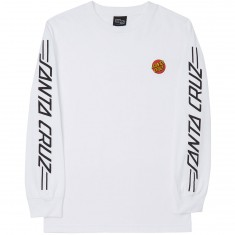 Santa Cruz Small Dot Long Sleeve T-Shirt - White