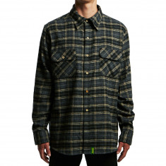 Creature Angler Shirt - Black Plaid